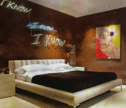 Elton John house, bedroom
