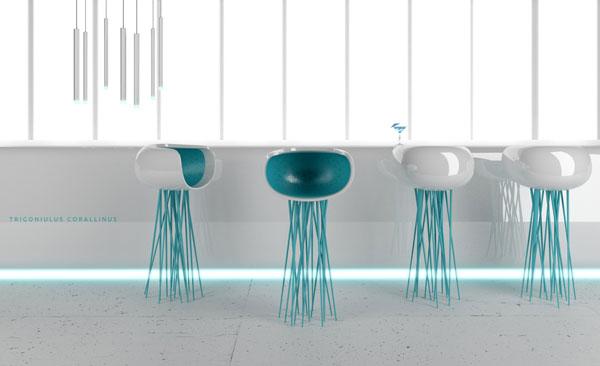 Millipede chair design