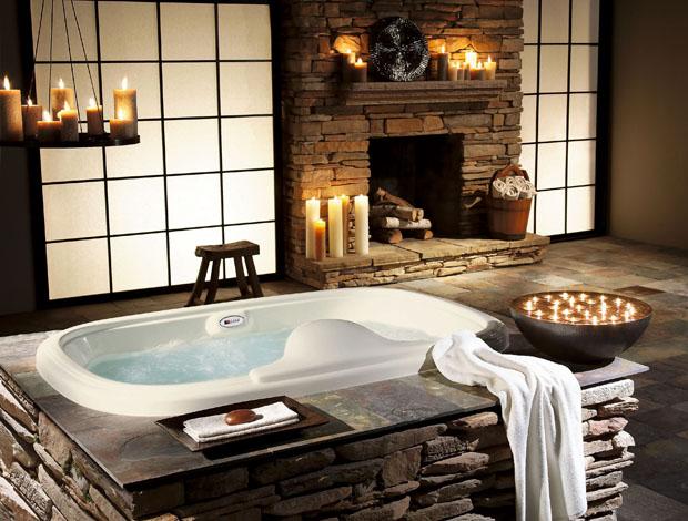 Stone bathroom