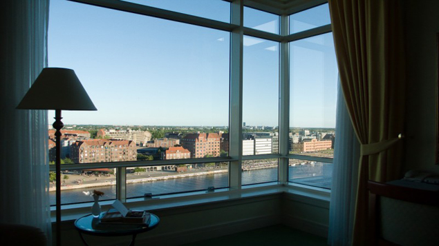 Room with big windows and perfect view