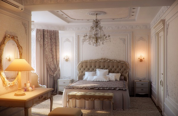 Elegant romantic bedroom design