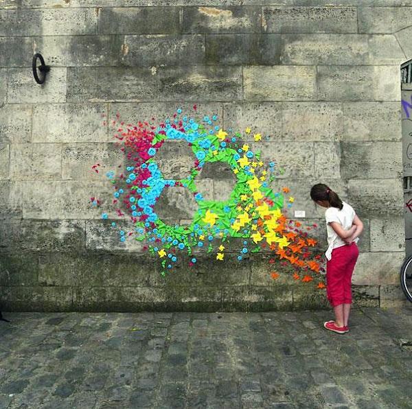 Mademoiselle Maurice - Paper street art
