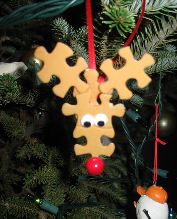 Ornaments with puzzle pieces