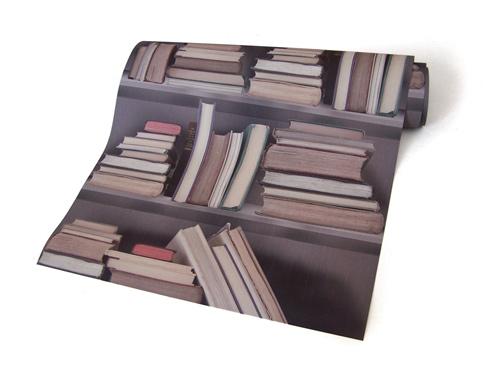 Library self-adhesive wallpaper