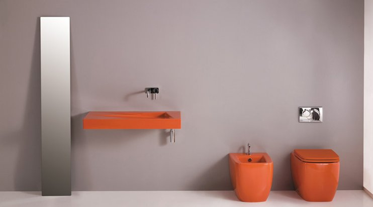 Colorful Bathroom fittings orange