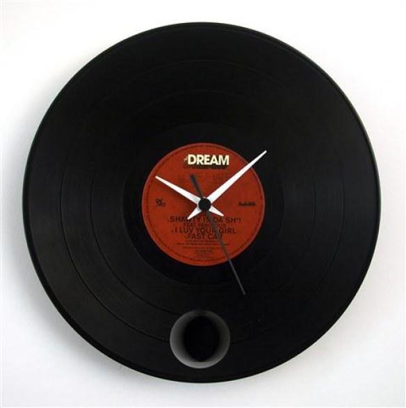 Vinyl clock